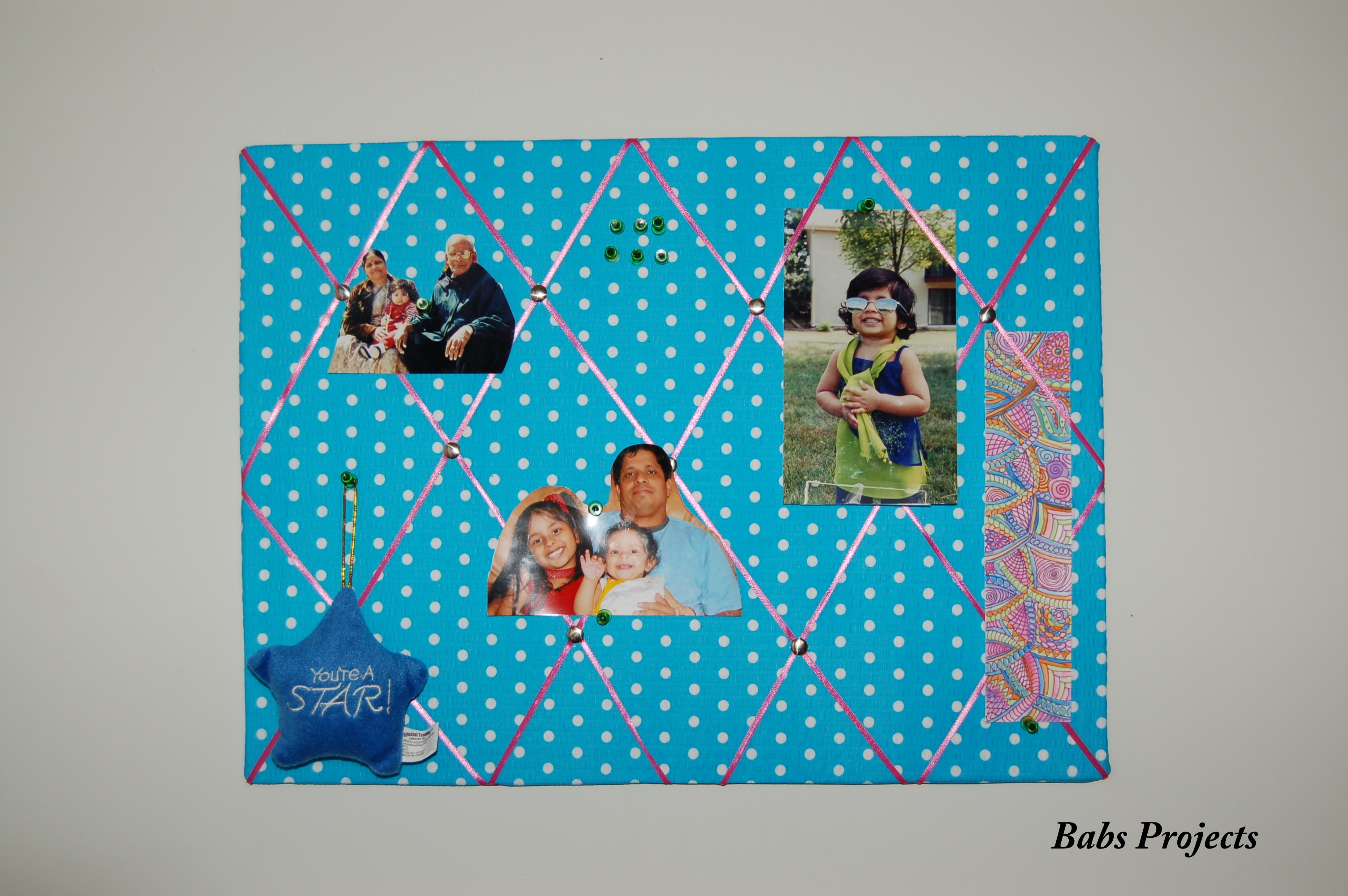 How To Make Fabric Pinboard With Foam Board Babs Projects