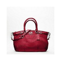 Madison Gathered Leather Sophia Satchel from Coach