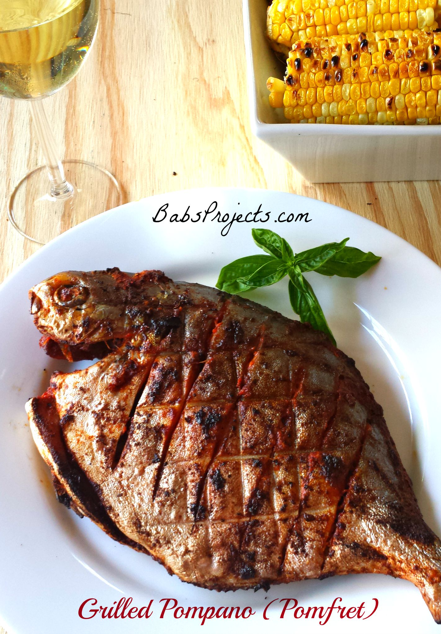 Grilled pompano pomfret babs projects for Pompano fish recipes