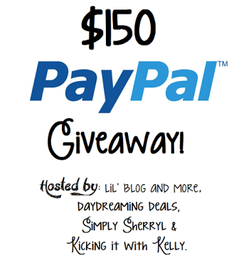 $150 PayPal Giveaway