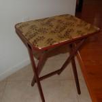 Decoupaged Folding Table