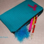 Monogrammed Zipper Pencil Pouch