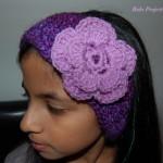 Floral Crochet Earmuffs