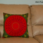 Red and Green Cushion Cover