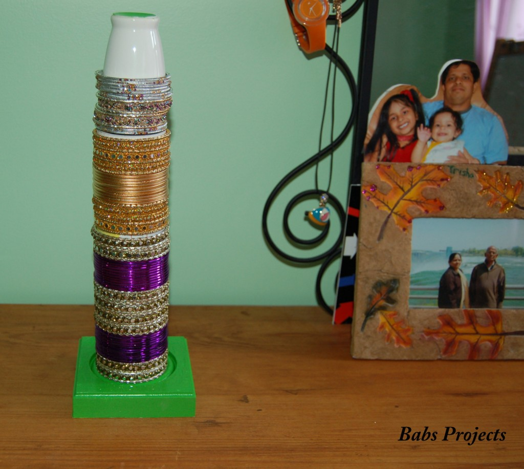How to Turn Tiny Vases into an Elegant Bangle Holder - Babs Projects
