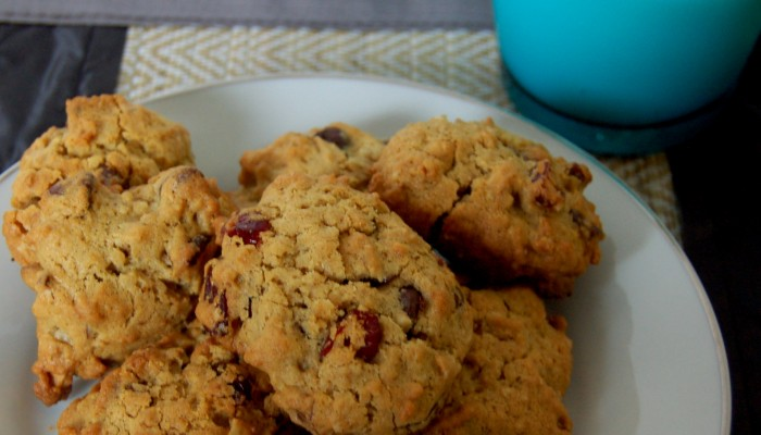 Chocolate Chip Almond and Cranberry Cookies