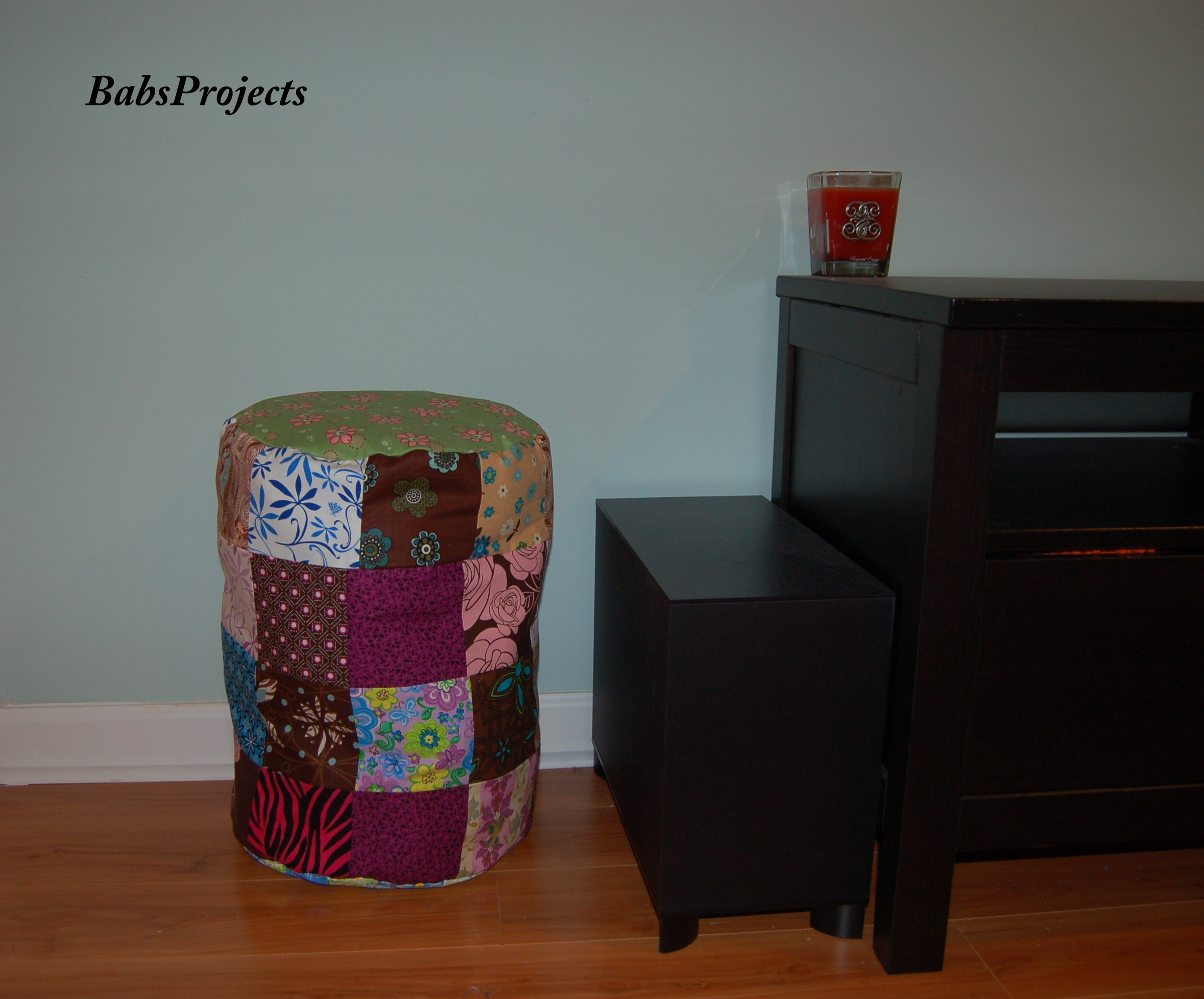 how to make a storage ottoman with leftover scraps of