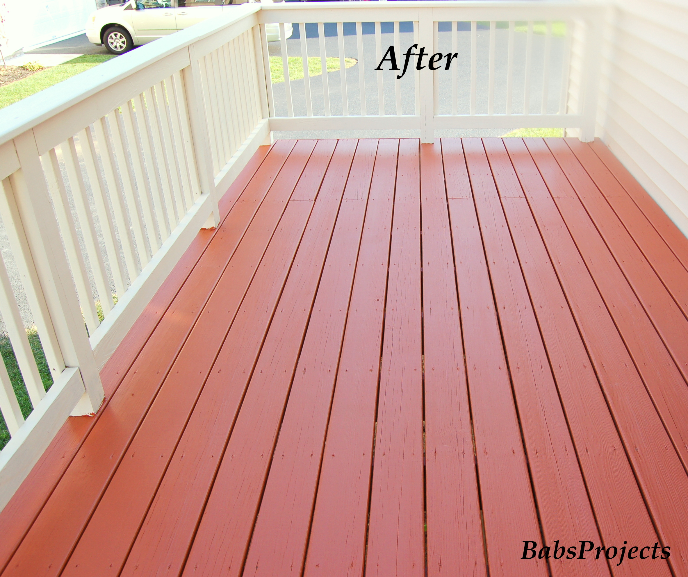 Deck makeover part ii babs projects - Home depot exterior paint color chart ...