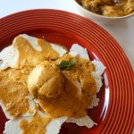 Kori Roti – Chicken in Coconut Curry with Rice Crisps