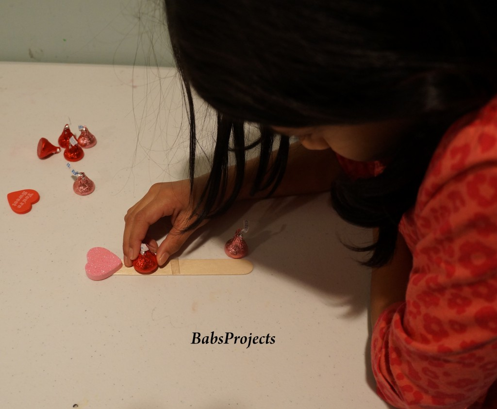 Hershey Kisses Valentine's Day Treats stick