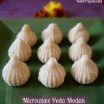 Microwave Peda Modak for Ganesh Chaturthi