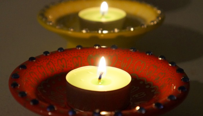 DIY Printed Ceramic Diyas for Diwali