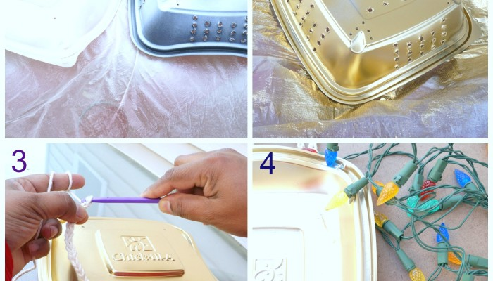 DIY: Upcycle Chick-fil-A Salad Container Into a Decorative Light #chickfilamomsDIY