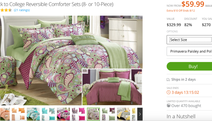 Refresh your Fall Bedding with Groupon