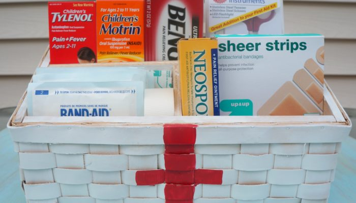 Create a Back to School DIY First-Aid Kit/Basket