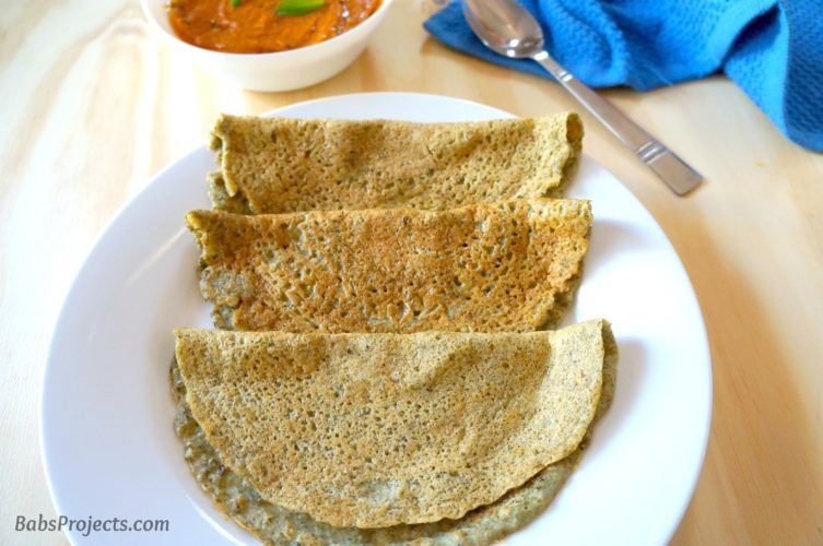 Healthy Whole Moong Dosa is made from Mung Beans