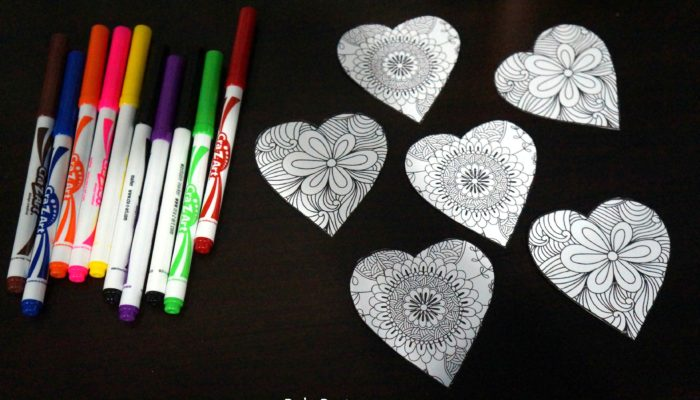 DIY Coloring Hearts for Valentine's Day