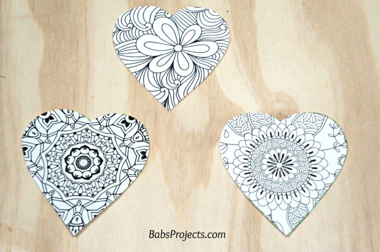 Coloring Hearts for Valentine's Day for Kids Crafts and Class Favors