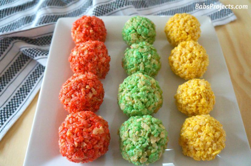 Colorful Rice Krispie Ladoo Made for Holi, The Festival of Colors