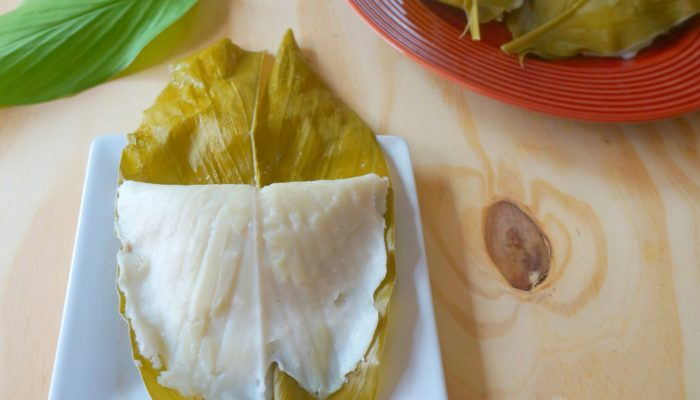 Manjal Irre dha Gatti | Rice & Coconut dumplings Wrapped in Turmeric Leaf