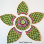 How to make Fabric Kundan Rangoli with Old Dupattas